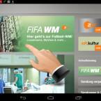 Klicken Sie nach dem Öffnen der Anwendung auf den großen WM-Banner oder rufen Sie sich die WM über den Schnelleinstieg auf. (Bild: Screenshot/ZDFmediathek)