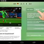"""Neben einer allgemeinen Zusammenfassung zum Spiel, finden Sie auch die Aufstellung und den direkten Teamvergleich. Außerdem schalten Sie auf """"MyView"""" um. (Bild: Screenshot/ZDFmediathek)"""
