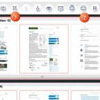 Über die Menüleiste (1) speichern Sie das Dokument, (2) drucken es oder (3) löschen die Datei. Über das Augensymbol rufen Sie sich eine Vorschau des erstellten Dokuments auf. (Bild: Screenshot/PDF24 Creator)