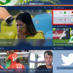 Über das Menü der Sport-App gelangen Sie zu allen wichtigen Punkten. Das Menü rufen Sie sich auf, indem Sie links oben auf die drei waagerechten Striche tippen. Außerdem finden Sie auf der Startseite der App die nächsten Spielpaarungen. (Bild: Screenshot/Sportschau FIFA WM)