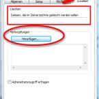 """Bevor die Dateien aus Ihrem Archiv auf dem Rechner des Empfängers entpackt werden, können Sie bereits vorhandene Dateien löschen. Dadurch stellen Sie sicher, dass der Empfänger die neu zugesandten Daten nutzt und keine alte Version verwendet. Über den Button """"Hinzufügen…"""" erstellen Sie eine Verknüpfung, beispielsweise auf dem Desktop. (Bild: Screenshot/WinRAR)"""