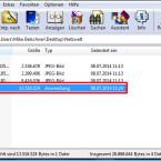 """WinRAR hat eine neue ausführbaren Datei mit der Endung """"EXE"""" im Quellordner erstellt. Versenden Sie diese Datei an den Empfänger. (Bild: Screenshot/WinRAR)"""