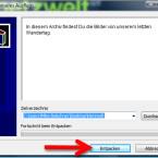 Der Empfänger führt die erhaltene Datei mit einem Doppelklick aus und bestätigt im Programmfenster, dass er die Dateien entpacken möchte. Den Inhalt der Anzeige haben Sie über die erweiterten SFX-Optionen personalisiert. (Bild: Screenshot/WinRAR)