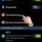 """Um zur Android-Datenüberwachung zu gelangen, rufen Sie auf Ihrem Smartphone die Einstellungen auf. Dort finden Sie einen Menüpunkt """"Datennutzung"""", den Sie antippen. Beim Samsung Galaxy S4 mini ist die Datennutzung zum Beispiel unter """"Verbindungen"""" zu finden. (Bild: Screenshot)"""