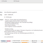 Besonders praktisch bei verivox.de ist, dass Sie mit einem Klick alle wichtigen Tarifdetails zum Kreditangebot aufrufen. Dadurch sehen Sie sofort, welche Unterlagen Sie für die Beantragung benötigen und ob der Kredit für Sie infrage kommt. (Bild: Screenshot/verivox.de)