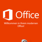 Zuerst sehen Sie eine kurze Einführung zu den Funktionen der Office-App. Weiter kommen Sie jeweils unten rechts, indem Sie auf den kleinen Pfeil in einem Kreis tippen. (Bild: Screenshot/Microsoft Office Mobile)