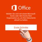 """Nachdem Sie sich die Einführung angesehen haben, starten Sie die Einrichtung von Microsoft Office Mobile mit einem Klick auf """"Erste Schritte"""". (Bild: Screenshot/Microsoft Office Mobile)"""