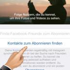 Genau wie Ihre Facebook-Freunde können Sie auch Ihre Kontakte importieren. Dafür muss Instagram auf Ihre Kontakte zugreifen können. Wählen Sie anschließend wieder alle oder einzelne Kontakte aus. (Bild: Screenshot/Instagram)