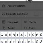 """Im nächsten Schritt vergeben Sie eine Bildunterschrift und setzen Hashtags, wenn Sie möchten, damit Ihr Foto gefunden wird. Tippen Sie anschließend rechts oben auf """"OK"""". (Bild: Screenshot/Instagram)"""