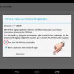 """Sie sehen jetzt die Größe des benötigten Sprachpakets und wählen aus, ob Sie dieses nur bei einer bestehenden WLAN-Verbindung herunterladen möchten. Aufgrund der Größe ist diese Möglichkeit zu empfehlen. Tippen Sie auf """"OK"""", um den Download zu starten. (Bild: Screenshot/Google Übersetzer für Android)"""