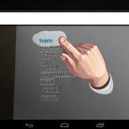 Markieren Sie mit dem Finger ein beliebiges Wort, um dieses zu übersetzen. Fast in Echtzeit sehen Sie am oberen Bildschirmrand die Übersetzung. (Bild: Screenshot/Google Übersetzer für Android)