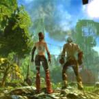 Zwei höchst unterschiedliche Charaktere müssen - unfreiwillig miteinander verbunden - auf der Reise nach Westen um ihr Überleben kämpfen. (Bild: Bandai Namco)