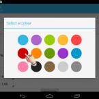 Es ist Ihnen überlassen, ob Sie mit den Farben Ihre Aufgaben thematisch oder nach Priorität kennzeichnen. Tippen Sie die Farbe an, mit der Ihre Hausaufgabe verknüpft werden soll. (Bild: Screenshot/Homework Planner)