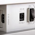 Auf null: Einen physikalischen Schalter weist der Monitor ebenfalls auf. Gut so. (Bild: netzwelt)