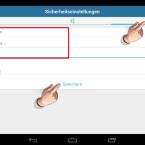 """Auf der dritten Registerkarte geben Sie an, mit welchen Methoden Sie das Kennwort zurücksetzen können, falls Sie es einmal vergessen sollten. Zur Auswahl stehen eine persönliche Frage samt Antwort und die Zusendung einer Sicherheits-E-Mail mit einem Entsperrcode. Geben Sie die persönliche Frage und die Antwort ein. Über """"Speichern"""" sichern Sie die Einstellungen. (Bild: Screenshot/Schützen (AppLock))"""