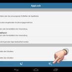 Zuerst legen Sie verschiedene Profile an, die Sie automatisch aktivieren können. Nachdem Sie die zu sichernden Apps und Einstellungen konfiguriert haben, tippen Sie auf das Icon mit dem Mond- und dem Plus-Zeichen. (Bild: Screenshot/Schützen (AppLock))