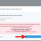 """Sie erhalten jetzt auf dem Bildschirm einen Code für den Notfall angezeigt. Notieren Sie diesen Code und hinterlegen Sie ihn an einer sicheren Stelle. Falls der Zugang über SMS, beispielsweise nach einem Rufnummernwechsel, nicht mehr möglich ist, erhalten Sie nur über diesen Rettungscode Zugang zu Ihrer Dropbox. Haben Sie den Code notiert, klicken Sie auf """"Zweistufige Überprüfung aktivieren"""". (Bild: Screenshot/dropbox.com)"""