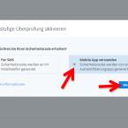 """Wählen Sie als Methode für den Abruf des temporären Sicherheitscodes """"Mobile App verwenden"""" aus, indem Sie den Punkt davor aktivieren. Klicken Sie danach auf """"Weiter"""". (Bild: Screenshot/dropbox.com)"""