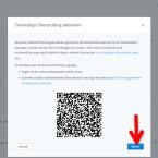 """Klicken Sie jetzt, nachdem der QR-Code gescannt ist, auf den blauen Button """"Weiter"""", um fortzufahren. (Bild: Screenshot/dropbox.com)"""