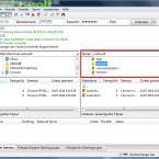 Auf die gleiche Weise durchsuchen Sie die Ordnerstruktur Ihres FTP-Servers und navigieren zum Zielordner für Ihre lokalen Dateien. Die Inhalte der Verzeichnisse werden Ihnen unter dem Verzeichnisbaum angezeigt. (Bild: Screenshot/FileZilla)