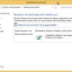 """Bevor Sie Ihre Daten sichern können, müssen Sie ein Ziellaufwerk für die Backup-Daten auswählen. Klicken Sie dafür im linken Teil des Fensters auf den Link """"Laufwerk auswählen"""". (Bild: Screenshot/Windows 8)"""