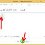 Möchten Sie eine Datei wiederherstellen, klicken Sie auf den grünen runden Button mit dem Pfeil. Dadurch wird die Datei an den ursprünglichen Speicherort verschoben. (Bild: Screenshot/Windows 8)