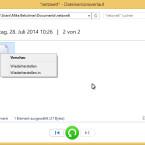 Mit einem Rechtsklick auf die gesicherte Dateiversion rufen Sie weitere Optionen auf. So können Sie beispielsweise eine Vorschau anzeigen. Sind Sie sich noch nicht sicher, ob es die richtige Datei ist, stellen Sie diese erst einmal in einem neuen Ordner her. Auch komplette Ordner lassen sich so temporär in einem neuen Verzeichnis wiederherstellen. (Bild: Screenshot/Windows 8)