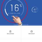 Auf dem Startbildschirm seht ihr übersichtlich, wie viel Speicherplatz auf eurem Smartphone noch frei ist. Rechts daneben wird die Auslastung des RAM-Speichers dargestellt. Tippt auf den Speicher, um Details anzusehen. (Bild: Screenshot/Clean Master)