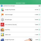 """Nachdem die App als Ausnahme definiert wurde, wird sie aus der Liste entfernt. Um alle markierten Apps zu schließen, tippt den grünen Button """"BESCHLEUNIGEN"""" an."""