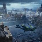 Aus luftigen Höhen hinein ins Getümmel: der Sprung in die Französische Revolution. (Bild: Ubisoft)