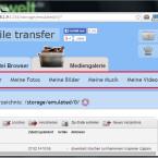 """Ist das Passwort korrekt, wird die Weboberfläche von """"WiFi File Transfer"""" geladen. Ganz oben greifen Sie auf Ihren internen Speicher und wenn vorhanden auf die SD-Karte zu. Über die Links daneben rufen Sie gezielt Bilder, Videos oder Ihre Musikdateien auf. (Bild: Screenshot / WiFi File Transfer)"""