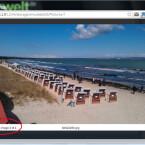 Mit einem Klick auf den Dateinamen öffnen Sie das Foto im Browser. Am unteren Bildrand finden Sie zwei Buttons, mit denen Sie durch die Bilder des Ordners blättern. Auf diese Weise betrachten Sie Ihre Schnappschüsse gleich am PC. (Bild: Screenshot / WiFi File Transfer)