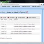 Der Ordner wurde neu angelegt und die markierten Bilder in das Verzeichnis verschoben. (Bild: Screenshot / WiFi File Transfer)