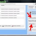 """Um Dateien vom PC in den Smartphone-Speicher zu laden, navigieren Sie zunächst in den Zielordner. Klicken Sie dann am rechten Browser-Rand auf """"Dateien auswählen"""" und wählen Sie eine oder mehrere Dateien von der Festplatte des Computers. Klicken Sie dann auf """"Upload starten"""", um die Dateien zu laden. (Bild: Screenshot / WiFi File Transfer)"""