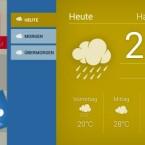 Das asina-Tablet bietet einen Überblick über das Wetter der nächsten Tage. (Bild: Screenshot)