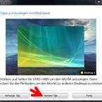"""Nach dieser schnellen Einrichtung klicken Sie auf """"DeskSpace verwenden"""", um die Software zu starten. (Bild: Screenshot/DeskSpace)"""