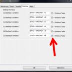 """Über den Reiter """"Desktop"""" aktivieren Sie die Hot Keys zum Aufrufen der verschiedenen Desktops. (Bild: Screenshot/DeskSpace)"""