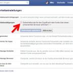 """Aktiviert die Checkbox vor """"Sicherheitscode für den Zugriff auf mein Konto über einen unbekannten Browser anfordern""""."""