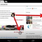 """Die Benachrichtigungen lassen sich mit dem Finger auf dem Bildschirm an eine andere Stelle verschieben, doch auch das ist oft keine Lösung. Wenn Sie die Chatsymbole auf das """"X"""" ziehen, verschwinden sie. Bei vielen Konservationen ist das jedoch keine Lösung und auf Dauer zu nervig. (Bild: Screenshot/Google Chrome)"""