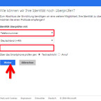 """Zuerst wählen Sie aus, wie Sie den Einmal-PIN empfangen möchten. Zur Auswahl steht per E-Mail, SMS oder via App. Entscheiden Sie sich an dieser Stelle beispielsweise für """"Telefonnummer"""". Geben Sie darunter Ihre Handynummer ein und klicken Sie auf """"Weiter"""". Die Nutzung der App für den Empfang der PINs können Sie später einrichten. (Bild: Screenshot/microsoft.com)"""