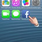 Mit einem Klick auf das erstellte Icon rufen Sie die Facebook-Chats im Safari-Browser auf. (Bild: Screenshot/iPod)