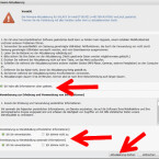 """Im nächsten Schritt sollten Sie sich die Informationen durchlesen, und das Häkchen entsprechend setzen. Im unteren Bereich müssen Sie der Erhebung und Verwendung persönlicher Informationen zustimmen. Erst dann können Sie den Button """"Aktualisierung starten"""" anklicken. (Bild: Screenshot/Samsung Kies)"""