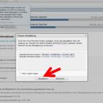 """Beim Update über Samsung Kies verbinden Sie Ihr Gerät über ein USB-Kabel mit Ihrem Computer. Danach öffnen Sie die Software. Haben Sie einen Moment Geduld, bis sich Software und Smartphone beziehungsweise Tablet-PC erkennen. Der Hinweis zum Firmware-Update erscheint automatisch, da die Software prüft, ob das Gerät über die aktuelle Android-Version verfügt. Erscheint der Hinweise zum Software-Update, klicken Sie auf """"Aktualisieren"""". (Bild: Screenshot/Samsung Kies)"""
