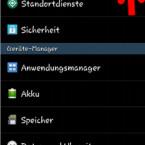 """Gehen Sie zunächst in die Einstellungen auf Ihrem Samsung Galaxy und rufen Sie sich die Registerkarte """"Optionen"""" auf. Dort wählen Sie anschließend """"Info zu Gerät"""". (Bild: Screenshot/Samsung Galaxy S4 mini)"""