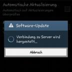 Im nächsten Schritt wird die Verbindung zum Server aufgebaut. Haben Sie etwas Geduld. (Bild: Screenshot/Samsung Galaxy S4 mini)