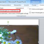 """Mit dem Haken im Kontrollkästchen vor """"Wiedergabe im Vollbildmodus"""" aktivieren Sie diese Option. (Bild: Screenshot/Microsoft PowerPoint 2010)"""