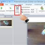 """Wollen Sie nur einen Teil des Clips zeigen, bearbeiten Sie den Clip mit dem Werkzeug """"Video kürzen"""". Klicken Sie auf die Schaltfläche. (Bild: Screenshot/Microsoft PowerPoint 2010)"""