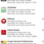 Übersicht der auf dem Smartphone installierten Apps. (Bild: Screenshot)