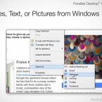 In der neuen Version teilen Sie Dateien aus Windows über in OS X konfigurierte Accounts von Facebook, Twitter und Co. (Bild: Parallels)