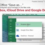 Mit Parallels Desktop 10 speichern Sie Dateien direkt aus Windows in Cloud-Speicher-Diensten wie iCloud Drive. (Bild: Parallels)